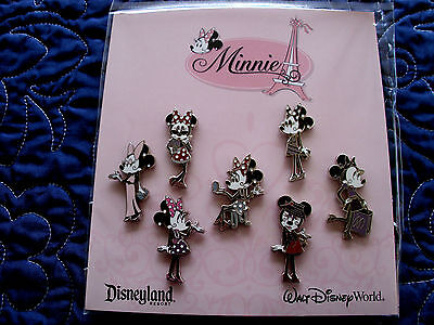 Disney * MINNIE - GLAMOUR POSES * New in Package - Retired 7 Pin Booster Set