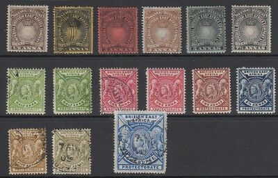 British East Africa Queen Victoria , 15 stamps