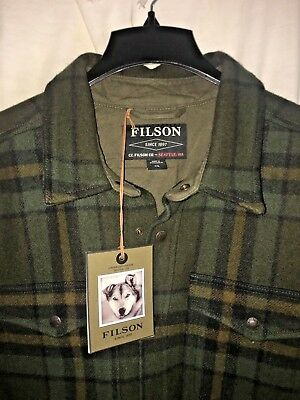 New With Tags Filson Limited Edition Mackinaw Wool Jac Shirt 2Xl