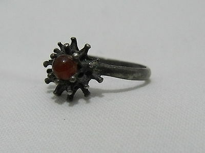 Vintage silver sterling 925 antique ring hand made art Deco style size 6 3/4