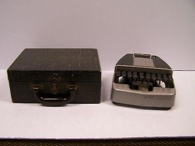 Vintage LaSalle Stenotype Stenographer's Machine With Carrying Case