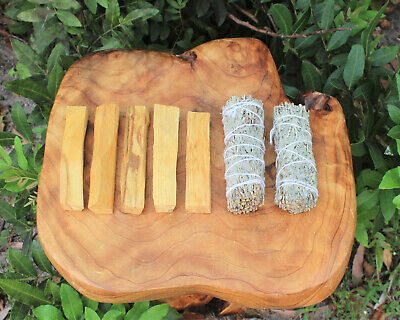 5 Palo Santo Wood & 2 White Sage Smudge Sticks: Cleansing Negativity Removal