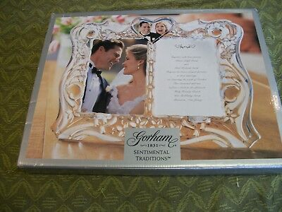 GORHAM 1831 Crystal Wedding Sentimental Traditions Invitation Frame NIB
