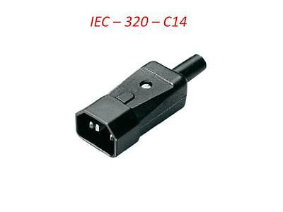 3 Pin Kettle Male High Quality  IEC DJ Mains Connector C14 10A Plug  UK