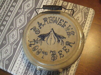 Estate Found Advertising Stoneware Canteen Bardwells's Root Beer For Restoration
