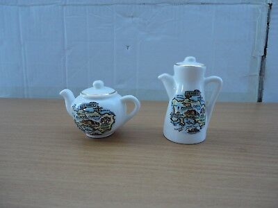 Jersey Pottery Bundle Salt & Pepper Pot Tea Pot Coffee Bone China Condiments Set