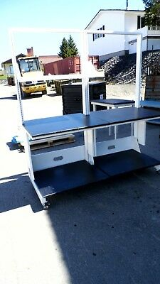 """31"""" X 72"""" X 78.5"""" Composite Top Lab Work Bench/table With Upper & Lower Shelf"""