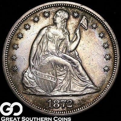 1872 Seated Liberty, Highly Demanded Silver Dollar Series ** Free Shipping!