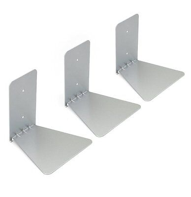 3 x Umbra CONCEAL Invisible Floating BOOKSHELF Wall Small Silver SET OF 3