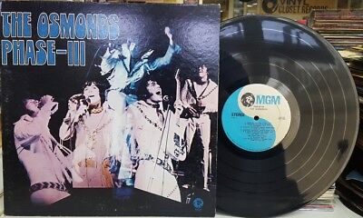The Osmonds - Phase-III used LP STEREO with Poster GATEFOLD MGM 1SE-4796