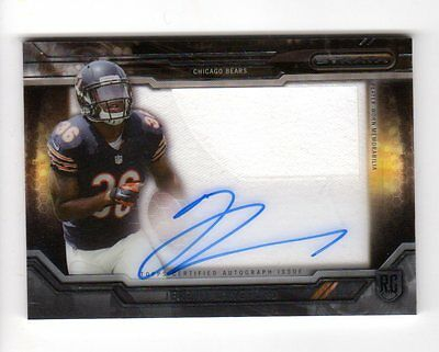 Jeremy Langford  Nfl 2015 Topps Strata Clear Cut Rookie Relic Autograph (Bears)