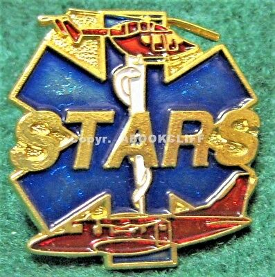 STARS HELICOPTER AIR AMBULANCE MEDICAL Lapel Pin Mint