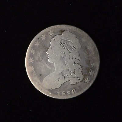 1836 50C Capped Bust Silver Half Dollar Lettered Edge Circulated Us Type Coin