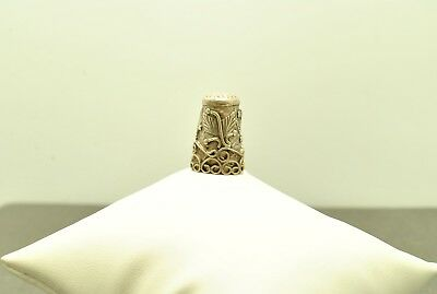 Sterling Silver Thimble Floral And Swirl Designs  #fmv383