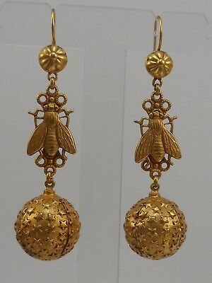 Askew London Fly And Ball Drop Earrings