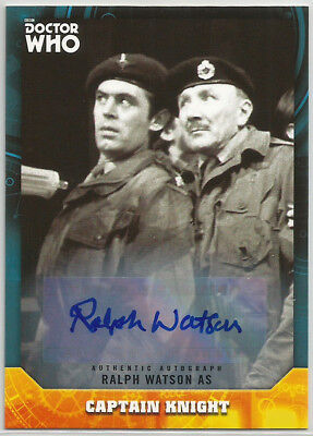 Doctor Who Signature Series 2017 ~ RALPH WATSON Auto/Autograph Card Capt Knight