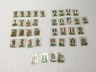 Tiny Vintage Antique Tarot Fortune Telling Teller Playing Cards Game German