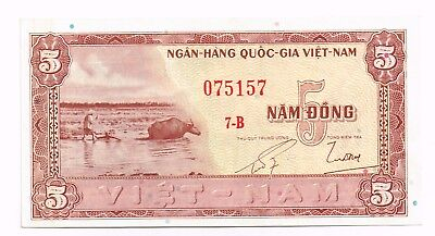 1955 SOUTH VIETNAM 5 DONG NOTE - p2a