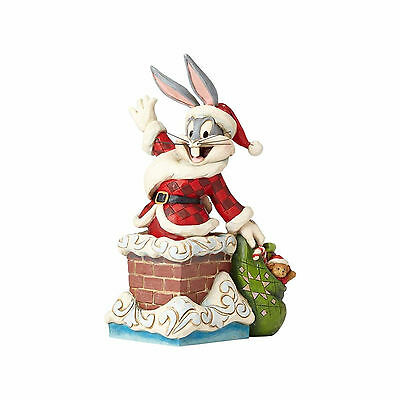 """Jim Shore / Looney Tunes / Featuring Santa Bugs  """"up On The Rooftop"""" / Nib"""