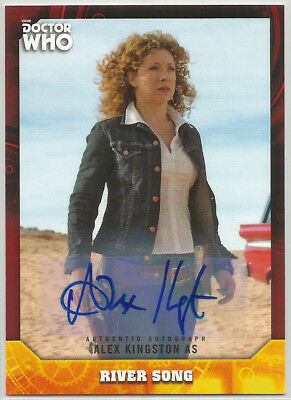 Doctor Who Signature Series 2017 ~ ALEX KINGSTON Red Auto/Autograph Card (#4/5)