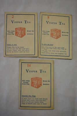 Vintage Advertising Cards for Vesper Tea  Picture Puzzles