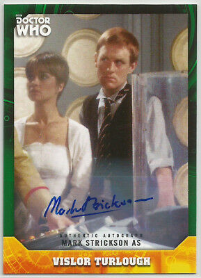 Doctor Who Signature Series 2017 ~ MARK STRICKSON Green Auto/Autograph Card #/50