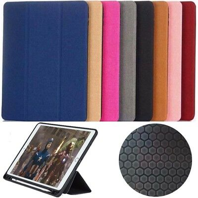 """Pen Slot Shockproof PU leather + Tpu Smart Stand Case for ipad 9.7  """"  2018 2017"""
