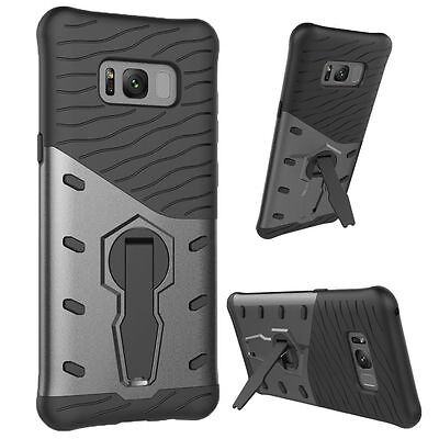 360° Hybrid Hard PC Armor Stand Shockproof Case Cover For Samsung Galaxy S8 Plus