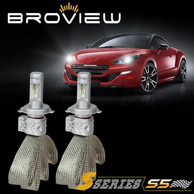 60W 8000LM Kit Car LED Headlights H4 HB2 Hi/Lo Beam No Fan BroView S5 Replaces