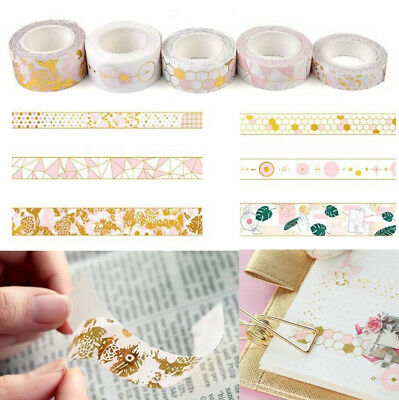 Pink Gold Foil Paper Washi Tape Kawaii Stationery Scrapbooking Decorative Tapes