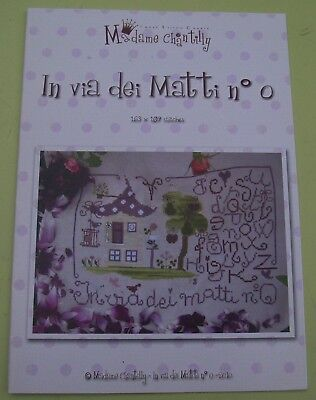 "Madame Chantilly  ""In via dei Matti  Nr. 0 ""  Stickvorlage, Kreuzstich"
