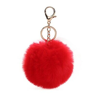 PomPom Keychain Charming Faux Fur Keyring Fluffy Ball Pendant Bag Ornament Gift
