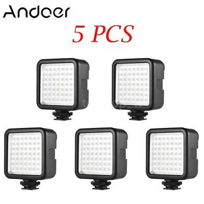 5pcs Andoer Camera DV LED Light Panel Lamp for Sony A7 DSLR Canon SLR CAMCORDER