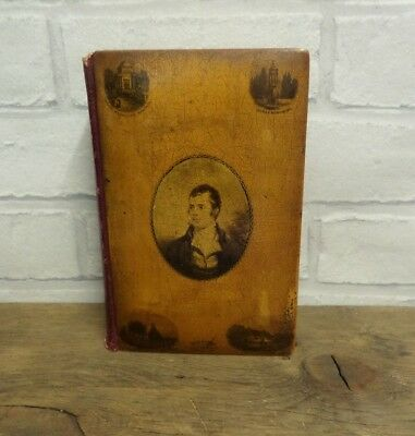 Antique Victorian Mauchline Ware  Poetical Works Of Robert Burns Book.