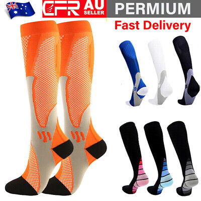 Copper Compression Socks Men Women Calf Shin Leg Running Sports Medical Sleeve O