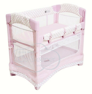 Arm's Reach Mini Ezee 3 IN 1 Baby Co-Sleeper Bedside  Bassinet Coterie New