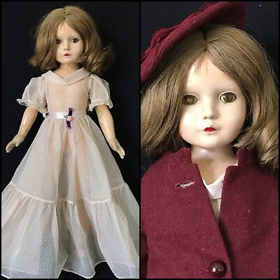 """20"""" Composition Effanbee """"American Children"""" Doll, 1936-1940, As Is"""