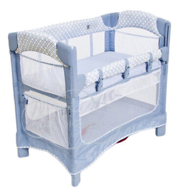 Arm's Reach Mini Ezee 3 IN 1 Baby Co-Sleeper Bedside  Bassinet Periwinkle New