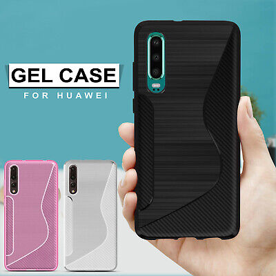 Shockproof TPU Silicone Protective Case Cover For Huawei P20 Pro Lite Mate 20