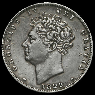 1829 George IV Milled Silver Sixpence, GVF+
