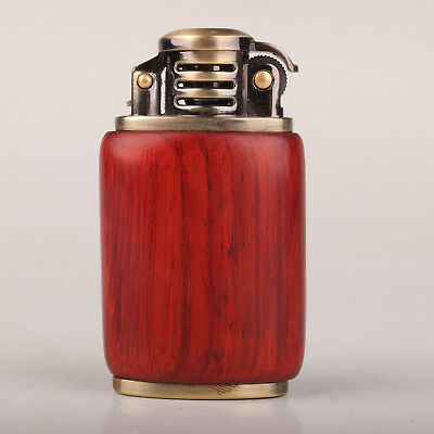 Superb Vintage Old Chinese Hand Carving Collection Wood Lighter