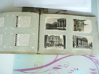 set of 8 cigarette card album collection cards john player and son ,  wills