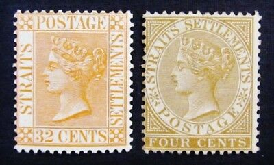 nystamps British Straits Settlements Stamp # 44 56 Mint with Gum H $39