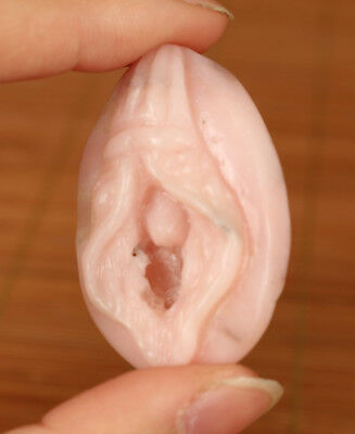 17Gram Natural Agate Jade Hand Carved Pink Fengshui source of life Statue Gift