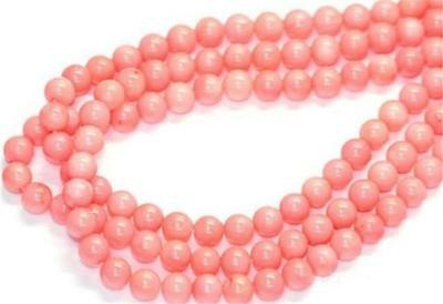 New 4mm Japan Sea Pink Coral Gemstone Round Loose Beads 15""
