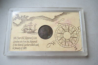 East India Company Copper Coin Salvaged From 1809 Admiral Gardner Shipwreck