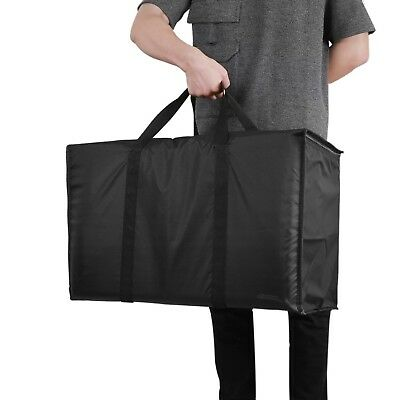 Insulated Nylon Food Delivery Bag Black For Hot Cold Food Delivery Shopping