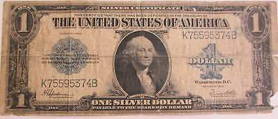 U.S. Series of 1923 One Dollar Silver Certificate Bill Large Size Note