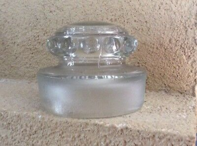 Large Vintage Glass Counter Display Apothecary Candy Jar Lid