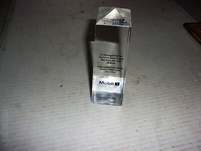 Very Nice Vintage 1993 Mobil One Service Award - Operation First Strike Mobil 1